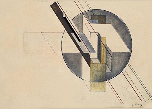 World of Art Kunst-Poster, Vintage-Stil, Konstruktivismus, Motiv von Gustav Klutsis, Sowjetunion,...
