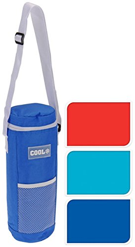 MTS Insulated Bottle Cool Bag Zip Up Ice Wine Cooler Shoulder Strap Picnic Drinks