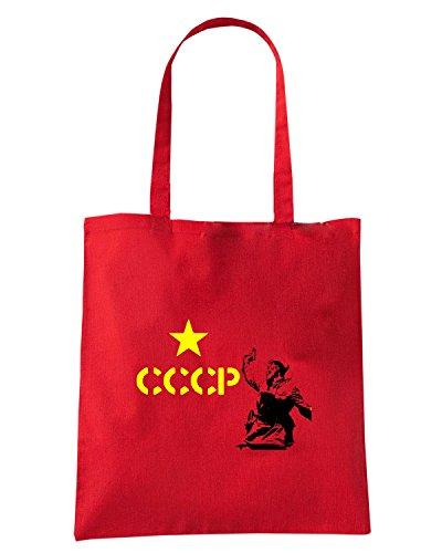 T-Shirtshock - Borsa Shopping TCO0041 cccp falce e martello comunismo Rosso