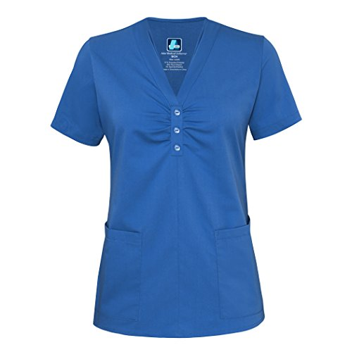 Adar Indulgenc Jr Passform Schal Hals Scrub Top Gr. XX-Large, königsblau (Rock Scrub Uniform)