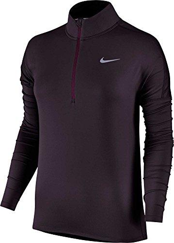 Nike 855517 T-Shirt Femme, Noir Vin Porto