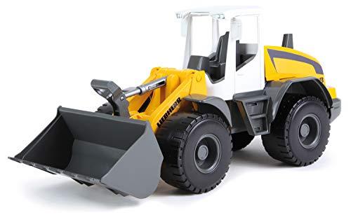 adlader Modell Liebherr L538 Litronic, ca. 48 cm, Baustellen Spielfahrzeug für Kinder ab 3 Jahre, robuster Schaufellader mit Griff und funktionstüchtiger Ladeschaufel ()