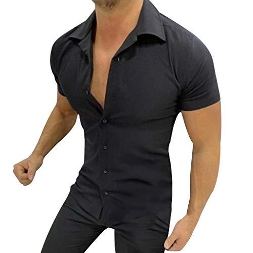 f8df3084b8d43c maglia obey uomo Vovotrade Maglietta Tinta Unita Slim Fit Cotone T-Shirt  Maglietta Uomo Maglia