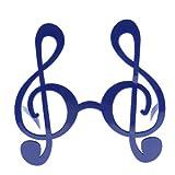 Sharplace Gafas Gracioso Unisex Disfraces Atrezo de Foto Juguete de Broma Gogles Lentes Anteojos de Sol Nota Musicales - Azul