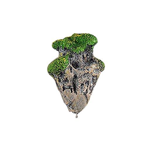 Berrose Simulation Schwimmender Stein Aquarium Landschaftsgestaltung Dekoration Schwimmende wirkliche Felsen Wasserpflanze Wasserlandschaft -