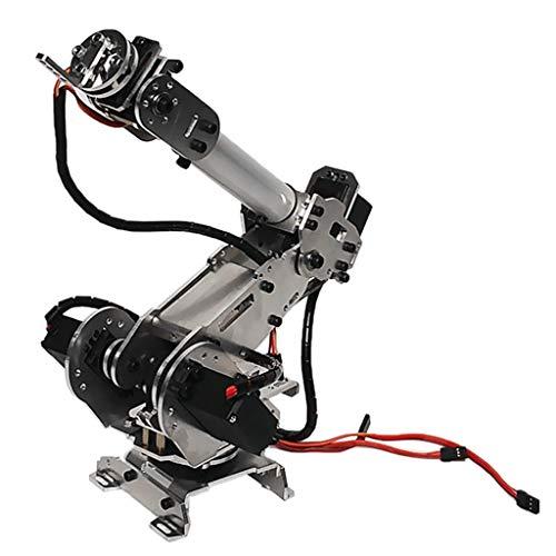 Homyl DIY 6DOF Aluminium Roboterarm 6-Achsen rotierender mechanischer Roboterarm-Kit mit 6 PCS Servo