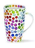 DUNOON Fine Bone China Kaffeebecher/Kaffeetasse Hot Spots, Bunte Punkte (Henley)