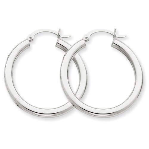 10k-white-gold-3mm-round-hoop-earring-by-ukgems
