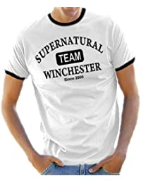Team Wincester Ringer / Kontrast T-Shirt S-XXL div. Farben