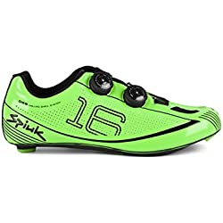 Spiuk 16 Road Carbono - Zapatillas unisex, color verde, talla 38