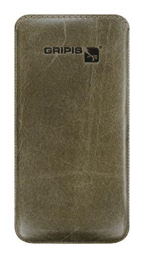 Preisvergleich Produktbild Gripis Case Waxed Ledertasche Olive Brown für Sony Xperia Z