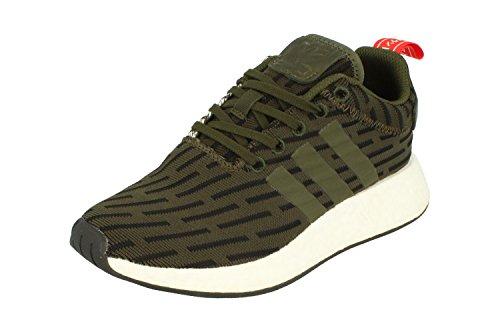 adidas NMD_R2 Herren Schuhe - dunkelgrün/schwarz/weiß, EU 39 ⅓