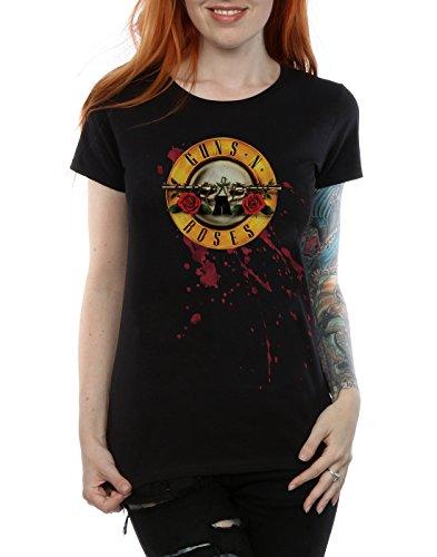 Guns N Roses Damen Blood Splatter T-Shirt Schwarz
