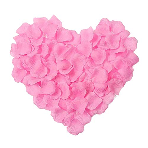 Hochzeits-Rosenblüten-Dekorationen, Viskose, Seide, Polyester, Hochzeits-Rose, 1000 Stück rosa - deep pink -