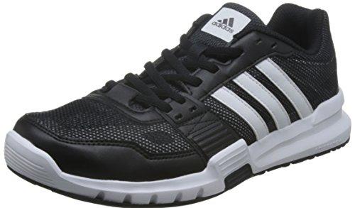 adidas Essential Star .2 - Zapatillas de cross training para hombre, color negro / blanco / gris, talla 43 1/3