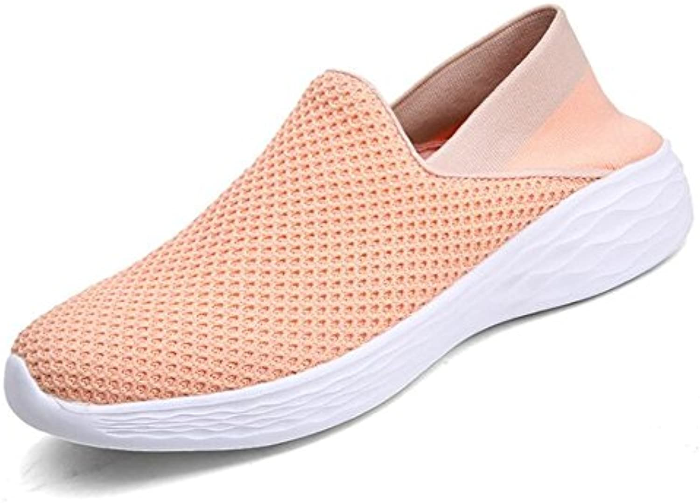 Zapatos de mujer Malla Ancianos Abuela Slip On Antideslizante Suelas blandas Mocasines Tamaño 35 a 39 , Pink ,...