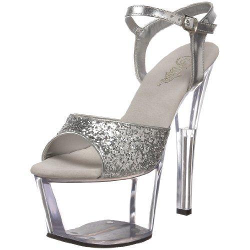 Pleaser Sky-310, Sandales Plateforme Femme Silber (Silber)