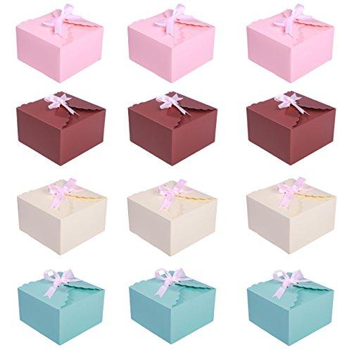 Set aus 12Geschenk-Boxen von DiaryLook für Hochzeit, Weihnachten, Baby-Party, Geburtstage, schöne Boxen für hausgemachte Kuchen, Kekse, Gebäck, Schokolade, Süßigkeiten, Kerzen, Badekugeln, Schmuck. 12 Pack