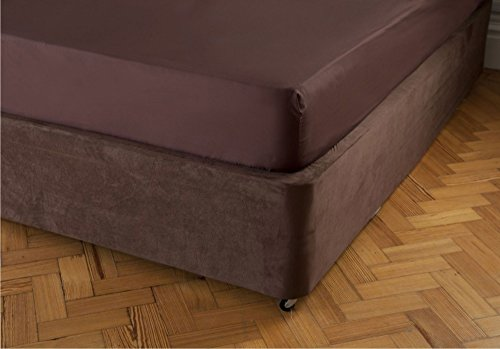 Belledorm Tour de lit de Luxe Imitation Daim (Double, Chocolat)