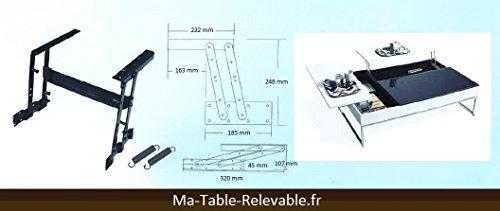 Mécanisme de plateau relevable pour table basse M04 - LE PETIT