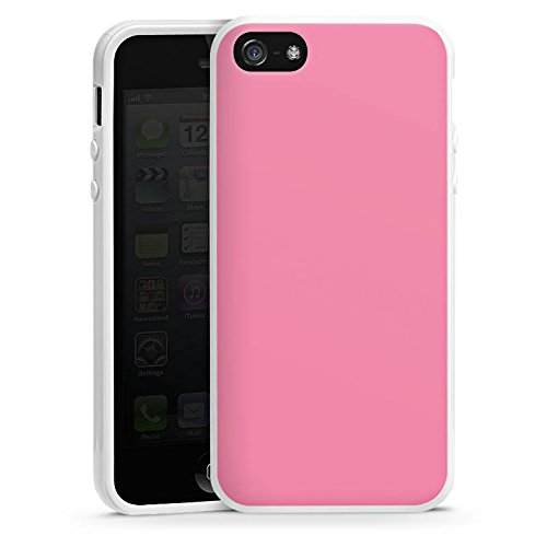 Apple iPhone 6 Housse Étui Silicone Coque Protection Rose vif Rose Rose Housse en silicone blanc