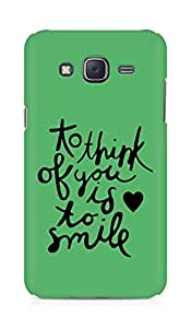 AMEZ to think of you is to smile Back Cover For Samsung Galaxy J5