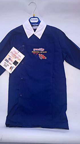 grembiule scuola blu ricamato ambrosino bambino