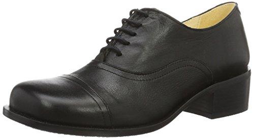 John W. Shoes Petra, Chaussures à Lacets Femme Schwarz (Negro)