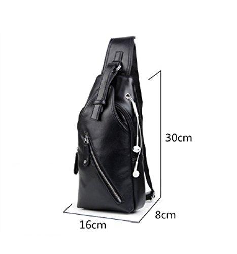LAIDAYE Multifunktionale Freizeit Sport Schulter Messenger Bag Business Paket Schultertasche Brust Tasche Blue