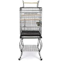 Pet's Solution Gabbia per Uccelli pappagalli con Carrello 51x50x146h cm