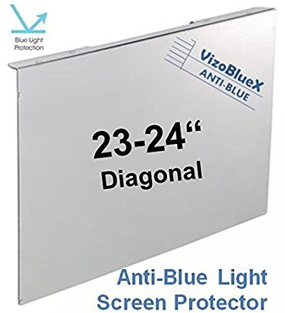 23 - 24 inch VizoBlueX Anti-Blue Light Computer Monitor Screen Protector Panel (54.61 x 34.03 cm) Blocks Blue light 380 to 495 nm. Fits LCD TV and PC Mac Monitors