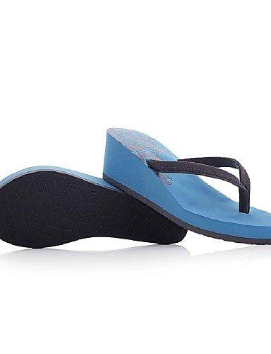 UWSZZ Die Sandalen elegante Komfort Frau Tanga Keil Schuhe Flops Hausschuhe (weitere Farben) fuchsia