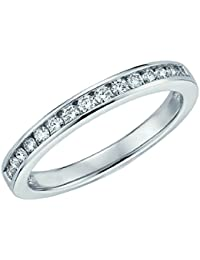 2.0 MM 0.25Ct Round Diamond Channel Set Half Eternity Ring in White Gold