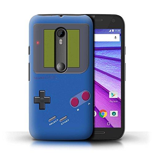 Stuff4® Hülle/Case für Motorola Moto G (2015) / Dunkelblau Muster/Videogamer/Gameboy Kollektion - Moto G Case Motorola Gameboy