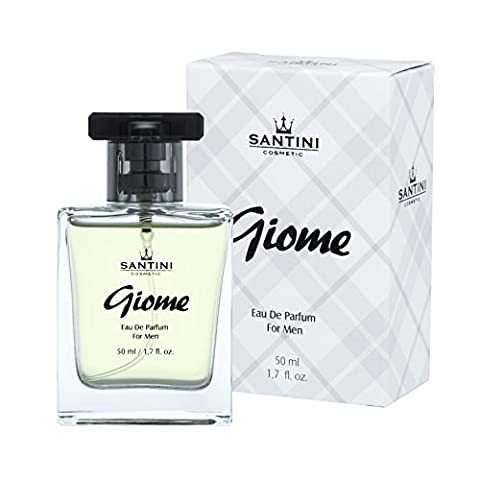 Giome Eau de Perfume By Santini Cosmetics - Sporty Men Fragrance with Fresh Citrus and Spicy Scents -