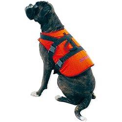 wellenshop Hunde-Schwimmweste Rettungsweste Größe S 0-8 kg Signalfarbe Orange Bergegriff