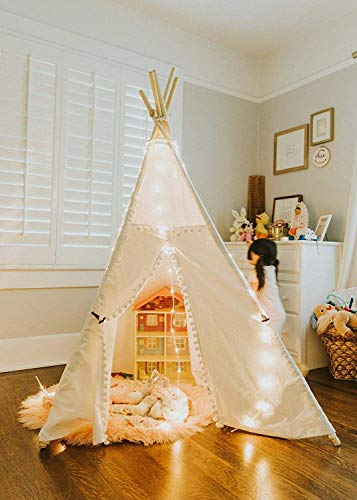 Tipi Zelt Beleuchtung Dekoration , 4-Seitig Spielzelt Licht Leuchtung Kinderzimmer Stimmungsleichtung , 4 Strings mit Clips