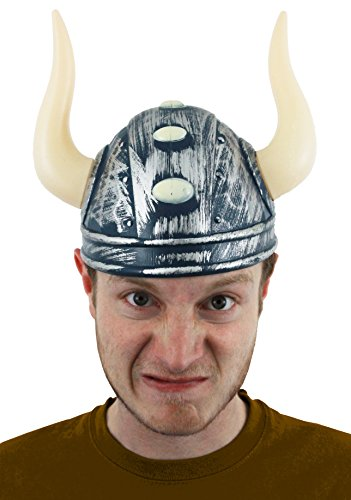 WIKINGERHELM, KOSTÜM NORDIC WARRIOR HERREN MÜTZE MITTELALTER NORDISCH GOTT MIT (Warrior King Kostüm)
