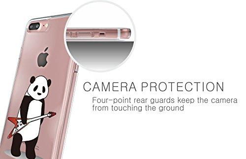 Qissy® TPU iPhone 7 Plus 5.5  copertura trasparente per la copertura della cassa del silicone Alta permeabilità modello vuoto 3