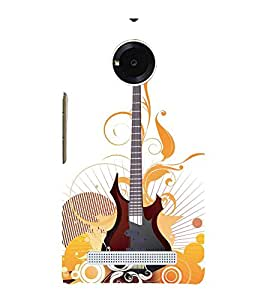 Animated Guitar 3D Hard Polycarbonate Designer Back Case Cover for YU Yunique