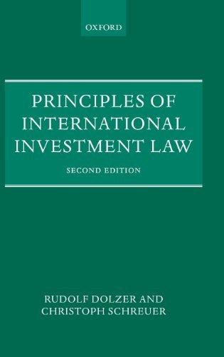 Principles of International Investment Law by Rudolf Dolzer (2013-02-07)