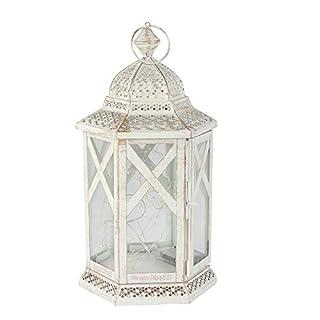 albena shop 74-100 Mudi oriental lantern moroccan lamp metal/glass (L with LED ligth chain)