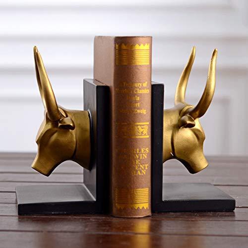 Bull Buchstützen (YUJIE Buchstütze Retro Cycle Vintage Antique Bull Head. Ideales Geschenk Für Hochzeit Zuhause Mitbringsel Spa Reiki Meditation Badezimmer-Einstellungen,14 * 11 * 21CM)