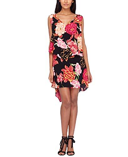 Tahari ASL Tiered Floral-Print Shift Dress