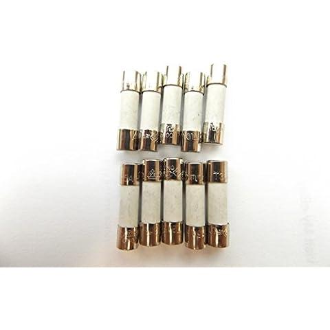 Fusible HBC contra sobretensiones 3,15A 250v 20mm retardo de tiempo T3, 15A H 250V cerámica x10pcs
