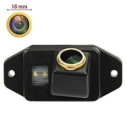 HD 1280 * 720p Goldene Kamera Rückfahrkamera Farbkamera Rueckfahrkamera Nachtsicht Wasserdicht Hilfslinien für 2002-2009 Toyota Land Cruiser 120 Series Toyota Prado 2700 4000