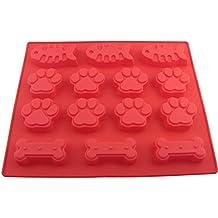 Perro patas y huesos & peces molde de silicona para horno, Bake perro gato alimento