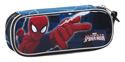 Spiderman Estuche portatodo (SAFTA 811543752), Color Azul