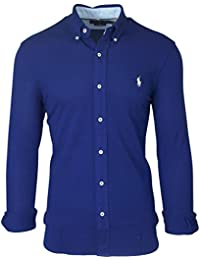 Polo Ralph Lauren Featherweight Mesh-Lsl-Knt, T-Shirt Manches Longues Homme