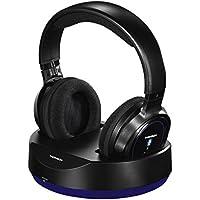 Thomson Over Ear Casque Bluetooth sans fil avec station d'accueil (pour TV/HIFI/Smartphone/Tablette/PC, fonctions de téléphonie et à distance, VoIP, 12h d'autonomie) Wireless Headphones Noir